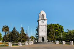 Glockenturm bei Seymour Square in Blenheim Stockfoto