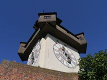 The glockenturm or bell tower in Graz in Austria Royalty Free Stock Image