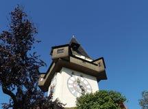 The glockenturm or bell tower in Graz in Austria Stock Image
