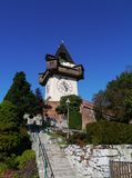 The glockenturm or bell tower in Graz in Austria Royalty Free Stock Images