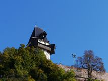 The glockenturm or bell tower in Graz in Austria Royalty Free Stock Image