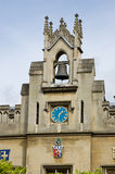 Glockenturm, Christs Hochschule, Cambridge Stockbild