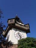 Glockenturm of de klokketoren in Graz in Oostenrijk Stock Fotografie