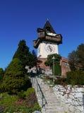 Glockenturm of de klokketoren in Graz in Oostenrijk Royalty-vrije Stock Afbeelding