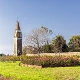 Glockenturm der Insel von Mazzorbo Lizenzfreie Stockfotos