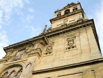 Glockenturm der Kathedrale-Moschee von Cordoba, Spanien Stockfotos
