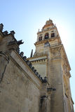 Glockenturm der Moschee in Cordoba Stockfotos