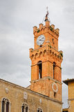 Glockenturm der Stadt von Pienza Lizenzfreie Stockfotografie