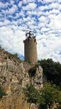Glockenturm des Schongebiets von Queralt Lizenzfreies Stockfoto