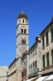 Glockenturm in Dubrovnik lizenzfreie stockbilder