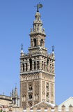 Glockenturm Giralda in Sevilla Stockfoto