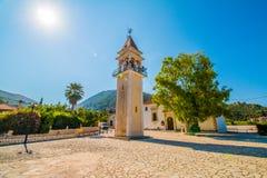 Glockenturm in Griechenland Stockbilder