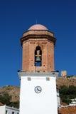 Glockenturm, Jimenade-La Frontera, Spanien. Stockfotografie