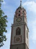 Glockenturm Merano, Seifenlösung Tirol stockbilder