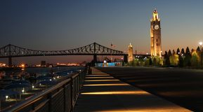 Glockenturm in Montreal Stockfotografie