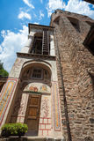 Glockenturm am Rila Kloster lizenzfreie stockfotografie