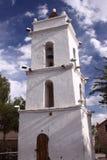 Glockenturm in San Pedro de Atacama, Chile Stockfotografie