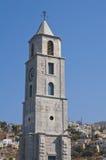 Glockenturm in Simi, Griechenland Lizenzfreies Stockfoto