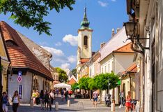 Glockenturm - Szentendre Lizenzfreie Stockfotos