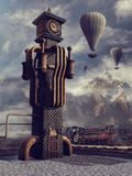 Glockenturm und Ballone Stockfoto