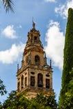 Glockenturm und ehemaliges Minarett des Mezquitas, Catedral De Cordoba stockfoto