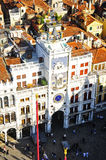 Glockenturm in Venedig Stockbild