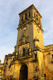 Glockenturm von BasÃlica Arcos de la Frontera, Spanien Stockfotos