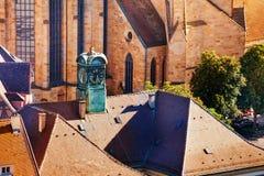 Glockenturm von neuem Rathaus in Esslingen, Deutschland Lizenzfreies Stockbild