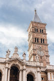 Glockenturm von Santa Maria Maggiore in Rom Stockfotografie