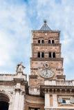 Glockenturm von Santa Maria Maggiore in Rom Lizenzfreies Stockbild