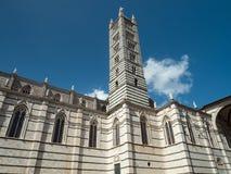 Glockenturm von Siena Cathedral, Italien Lizenzfreie Stockfotos