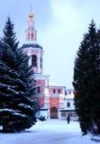 Glockenturm von St. Daniel Monastery in Moskau Stockbild
