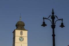 Glockenturm-Zusammenfassungsschuß stockfoto