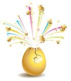 Glod ägg stock illustrationer