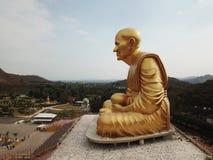 Glod buddha, det störst i världen på Nakhon Ratchasima, Thailand arkivbild