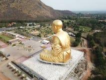 Glod buddha, det störst i världen på Nakhon Ratchasima, Thailand royaltyfria foton