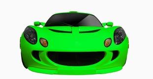 Glod sports car Royalty Free Stock Photos