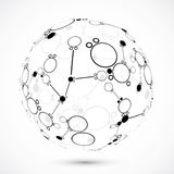 Glode geométrico Imagen de archivo libre de regalías