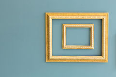 Gloden classic picture frames Royalty Free Stock Image
