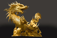 Gloden dragon Royalty Free Stock Images