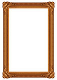 Gloden frame. Isolated antique picture golden frames Royalty Free Stock Photos