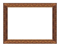 Gloden frame. Isolated antique picture golden frames Stock Photo