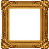Gloden frame. Isolated antique picture golden frames Stock Photography