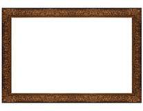 Gloden frame. Isolated antique picture golden frames Stock Images