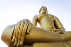 Gloden Giant Buddha Royalty Free Stock Photography