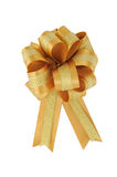 Gloden ribbon bow isolated Royalty Free Stock Photos