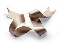 Gloden ribbon Royalty Free Stock Photo