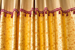 Gloden stage curtain Royalty Free Stock Photography