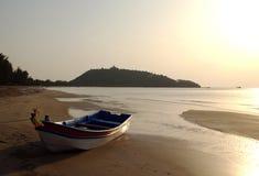 Gloden strand royaltyfri fotografi