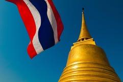 Gloden zet (Wat Sraket) in Bangkok op Stock Foto's